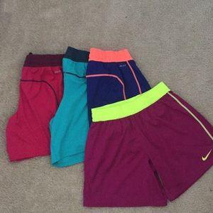 Set of Nike soccer shorts